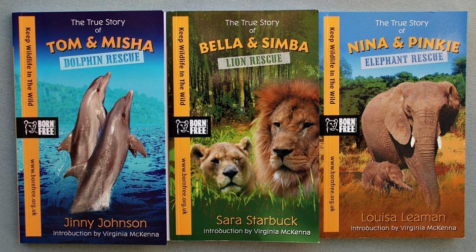 Born Free Books - Tom & Misha, Bella & Simba, Nina & Pinkie