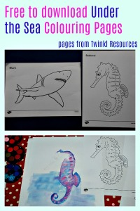 Free to download Under the Sea colouring pages from Twinkl Resources