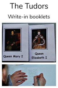 The Tudors. Write in your own folding booklet of Queen Mary I and Queen Elizabeth I downloaded from Activity Village