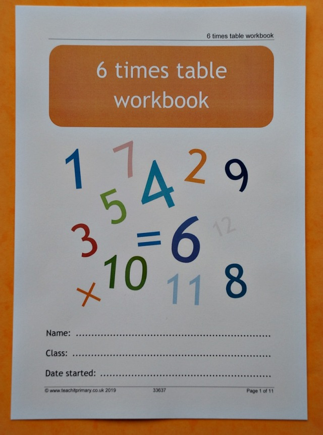 6 times table booklet from the Teachit Primary website. Free to download times table resource