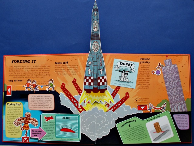 Feel the Force, Super Science Pop Up Physics book. All about forces