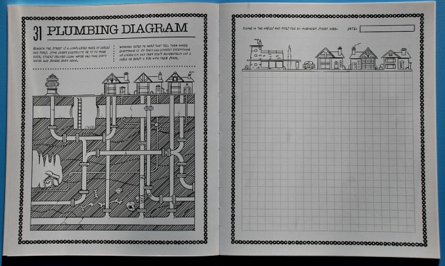 Get Mapmaking! How to get creative with maps. A Plumbing Map with a page for the kids to design their own pipe system