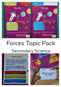 Forces Topic pack by Oaka Books. A secondary science learning pack. Great for home education