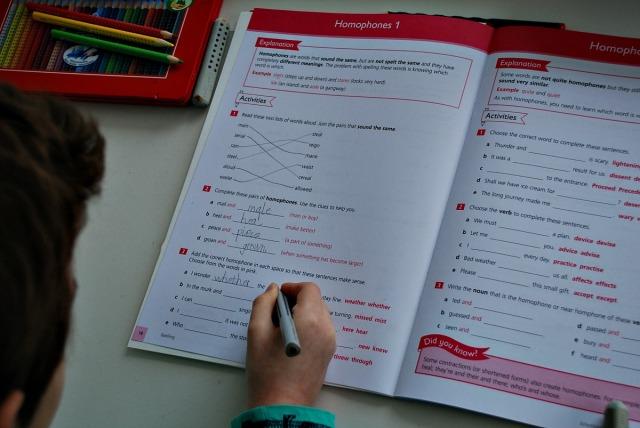 Working is the Schofield & Sims Understanding English Spelling workbook