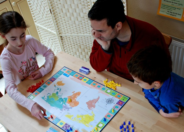 board game learning with On the Map game by Oaka Books