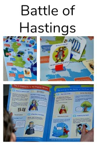 British History for kids. The battle of Hastings Topic Pack from Oaka Books includes a topic book full of information and a game