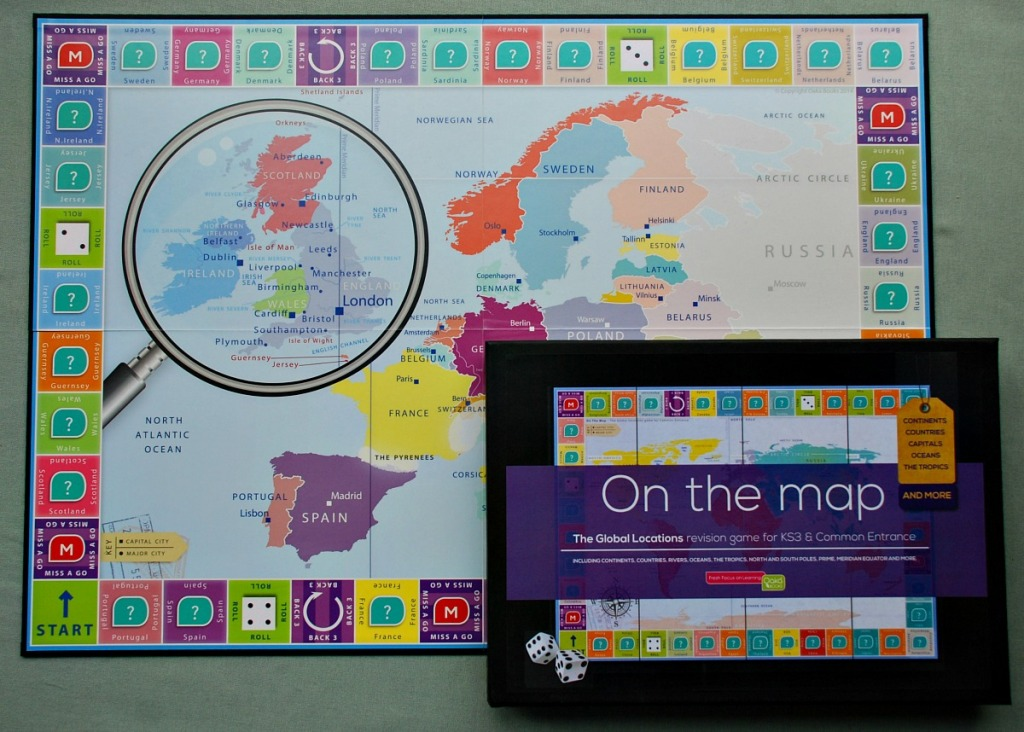 Geography Board game by Oaka Books On the Map