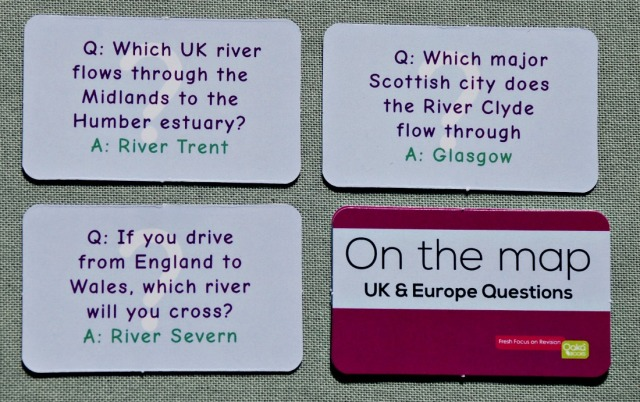 On the Map question cards include a number of questions on the UK
