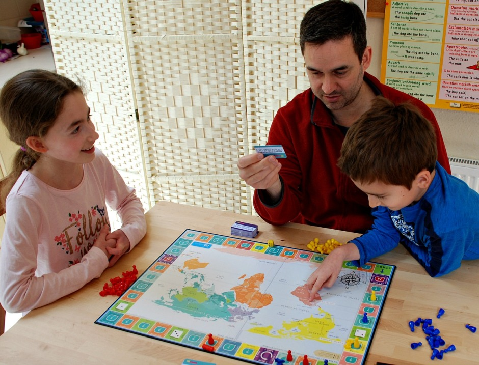 Playing and learning with the On the Map board game by Oaka Books