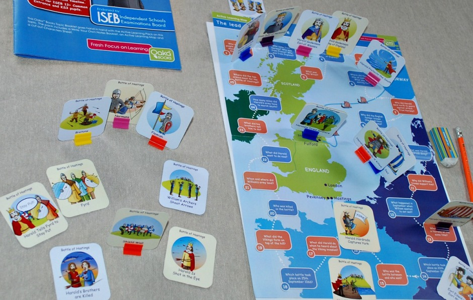 Revision map activity included in the Battle of Hastings Topic pack produces by Oaka Books