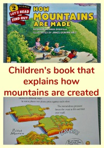 Children's book that explains how mountains are created. Excellent Geography resource to share with younger kids