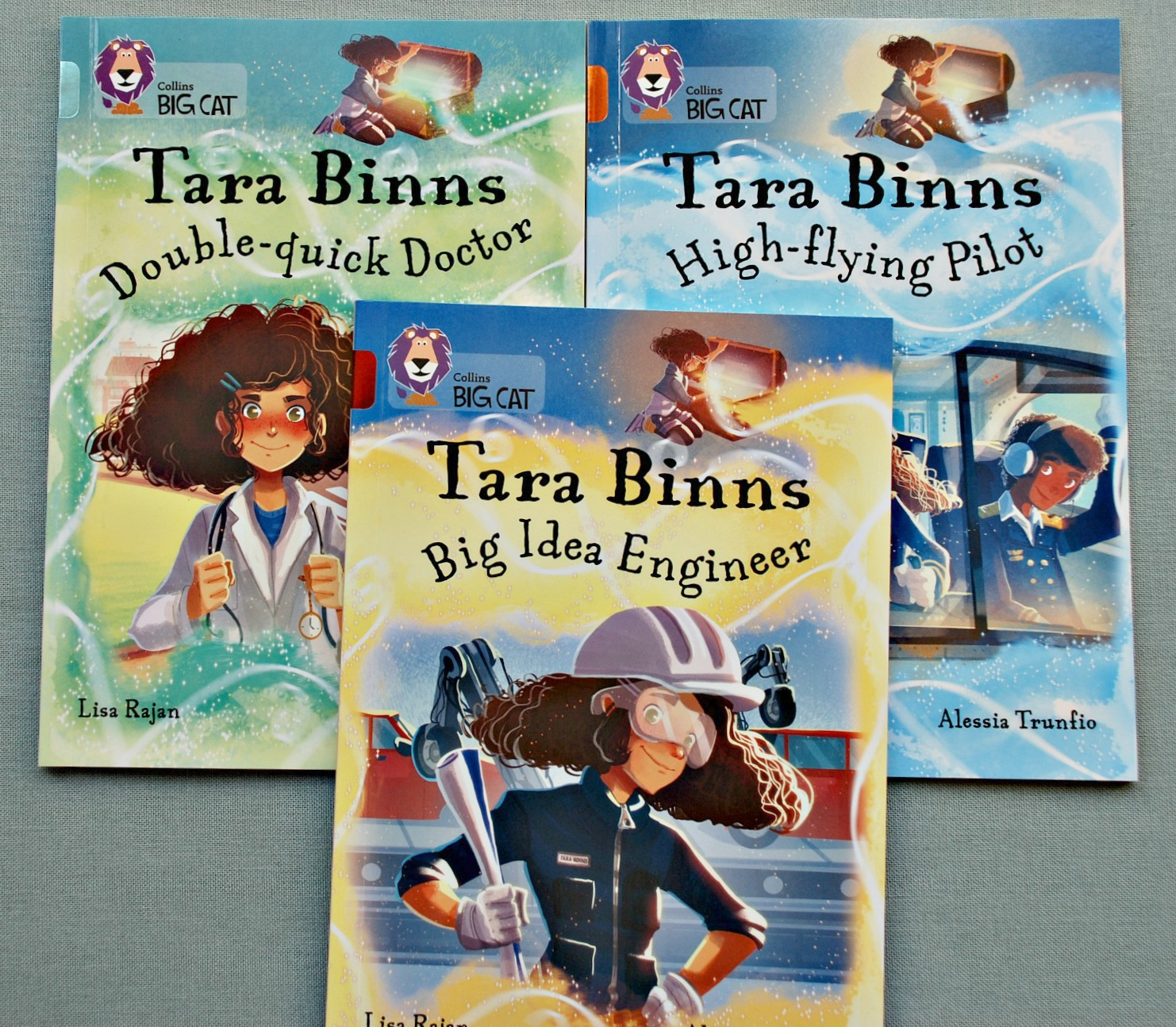Tara Binns Books by Collins.  Books which show female characters in STEM jobs