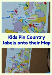 Learning where the different countries are situated on a Map by pinning labels onto their own map