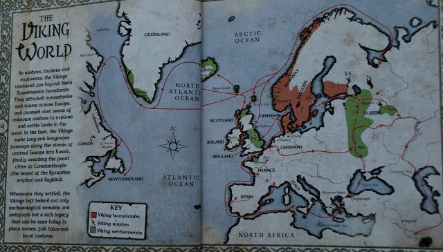 The world of Vikings book by Robert Macleod. The viking world map
