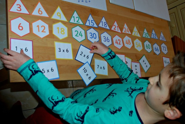 skip counting and times table folding cards from Activity Village