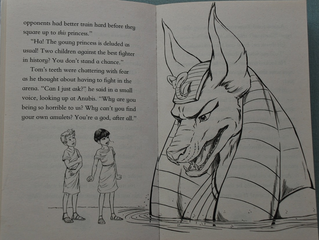an inside page from one of the Time Hunters book by Chris Blake