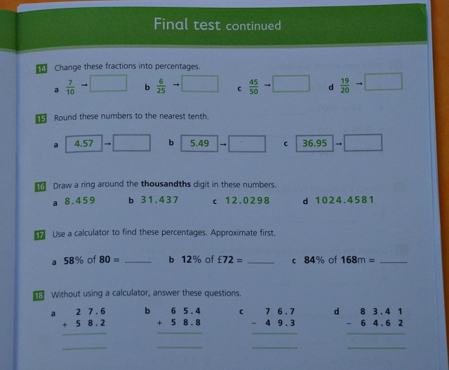 Schofield & Sims Understanding Maths Decimals and Percentages workbook for Key Stage 2