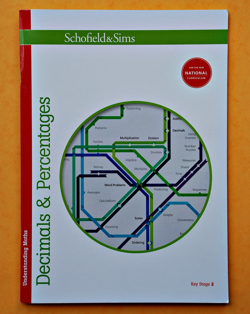 Understanding Maths Decimals and Percentages by Schofield & Sims. Key Stage 2 maths workbook