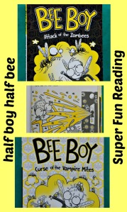 The Bee Boy Books, all about a young boy who can turn into a bee. Fun reading for newly independant readers