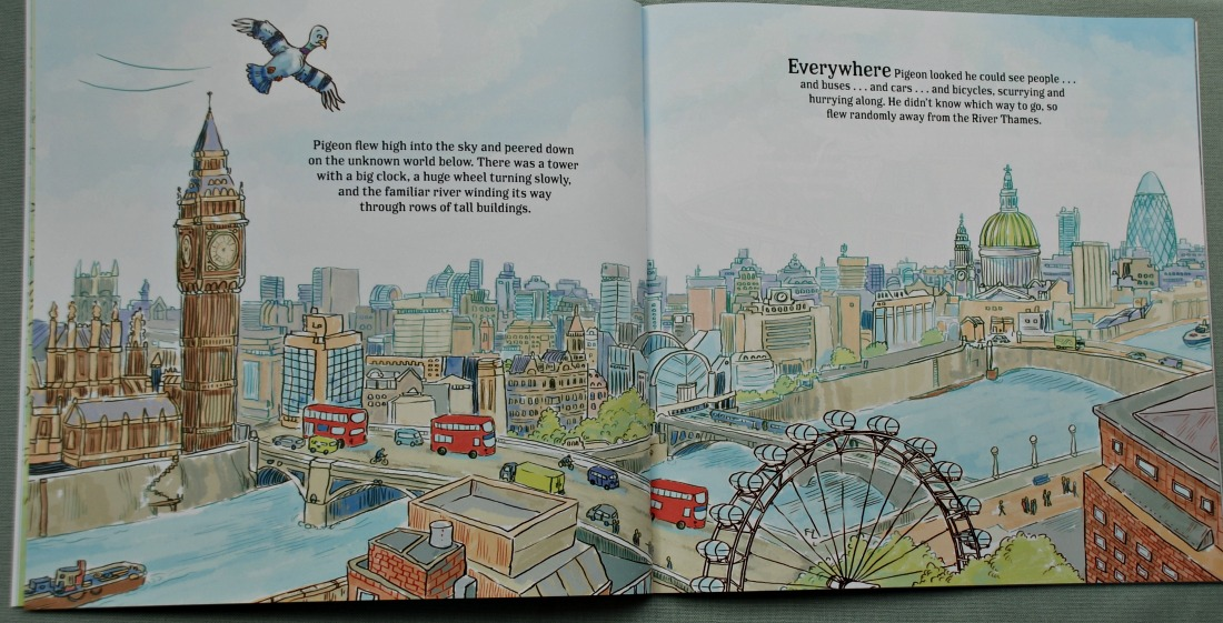 The Tap Dancing Pigeon of Covent Garden has stunning illustrations