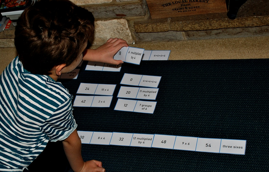 using his times table dominoes created by ofamily learning together