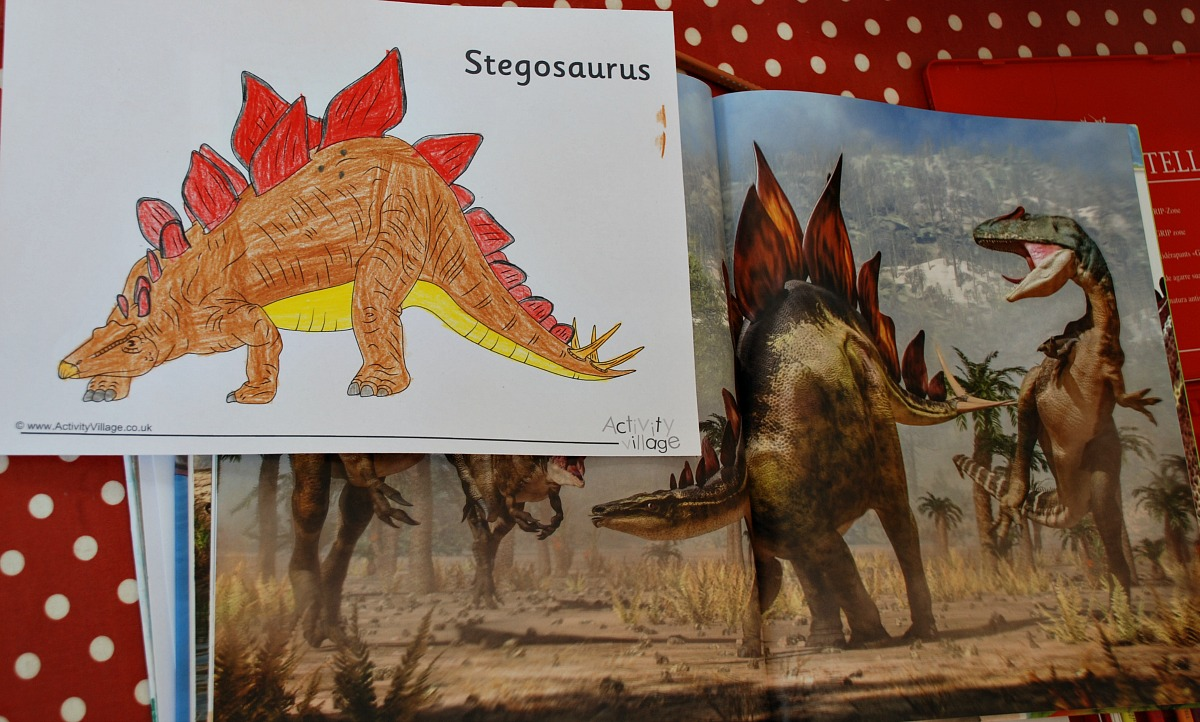 using the dinosaur book to get realistic colours for pictures