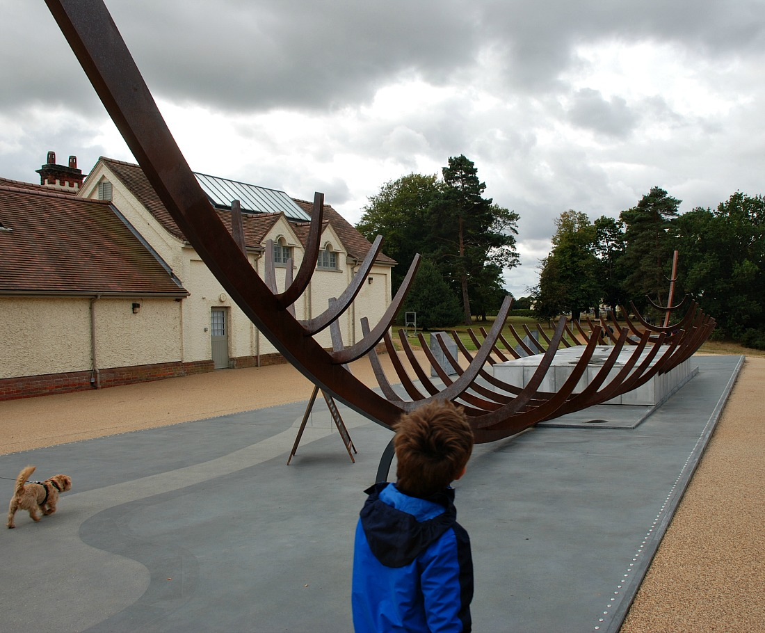 The Great ship outline at Sutton Hoo