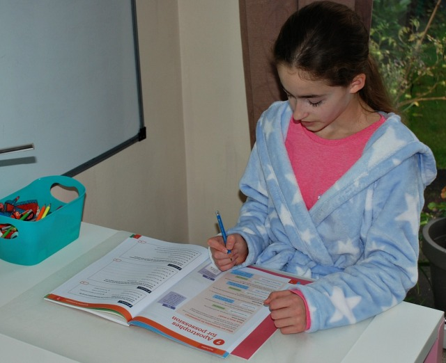 working through her Get It Right Workbook 1. Spelling, Punctuation and Grammar for Key Stage 3 ages