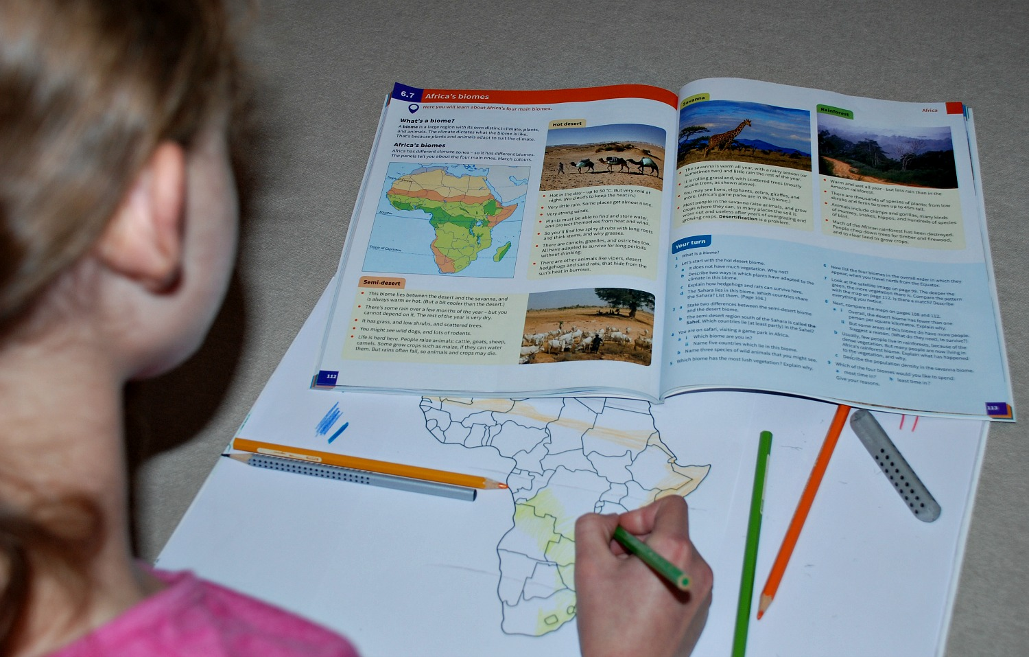 using her new Geog.1 book