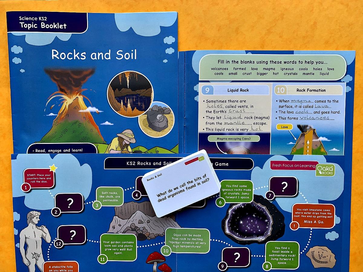 Rocks and Soil KS2 Topic Pack from Oaka Books