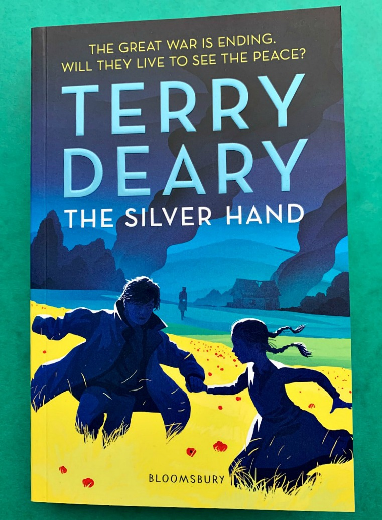 The Silver Hand by Terry Deary. A historical fiction book for children written about the First World War