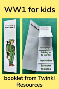 World War 1 booklet from Twinkl Resources. Perfect for primary aged kids learning about WW1