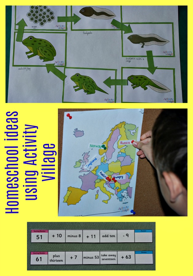 Homeschool ideas using Activity Village pages. Maps, life cycles, maths, sudoku, weather, comprehensions