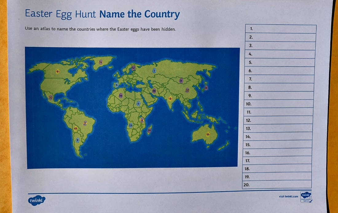 Easter egg Hunt - name the country