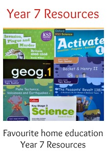 Favourite Year 7 home education resources that we have used this year. Top Homeschooling books for Year 7