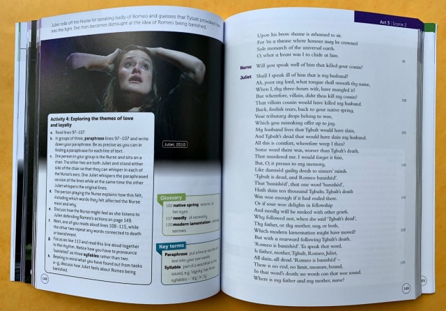 RSC School Shakespeare Romeo and Juliet Act 3 scene 2 text