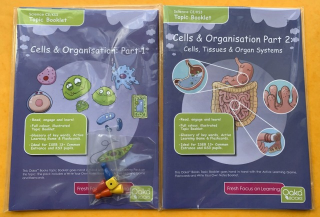 Oaka Books Cells and Organisation Topic Packs