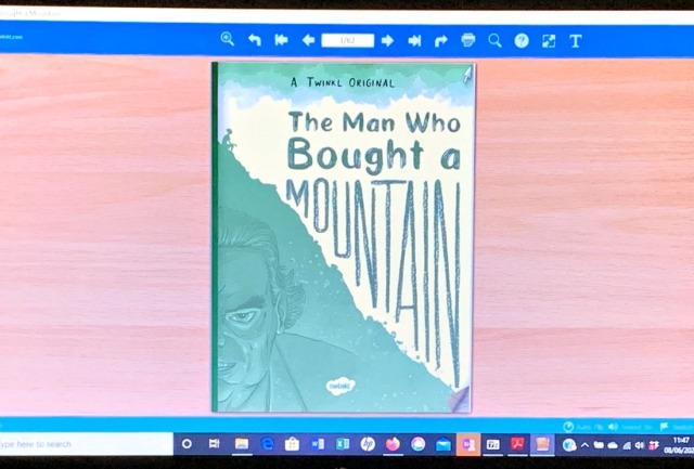 The man who bought a mountain Twinkl eBook