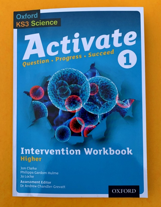 Activate 1 Higher workbook. KS3 Science. Year 7 science workbook