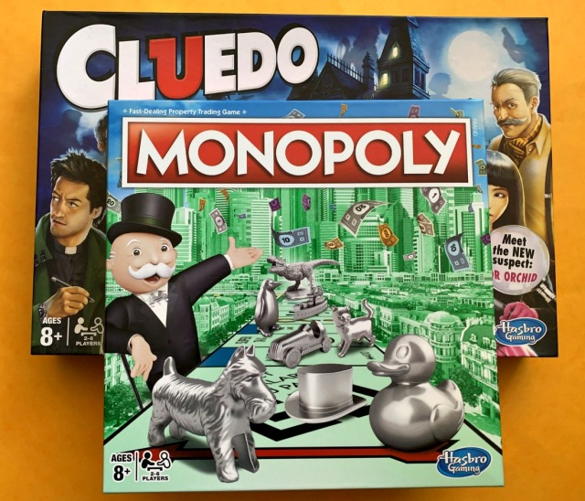 Board Games Monopoly and Cluedo