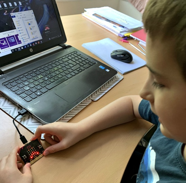 using the Micro:bit. ofamily learning together