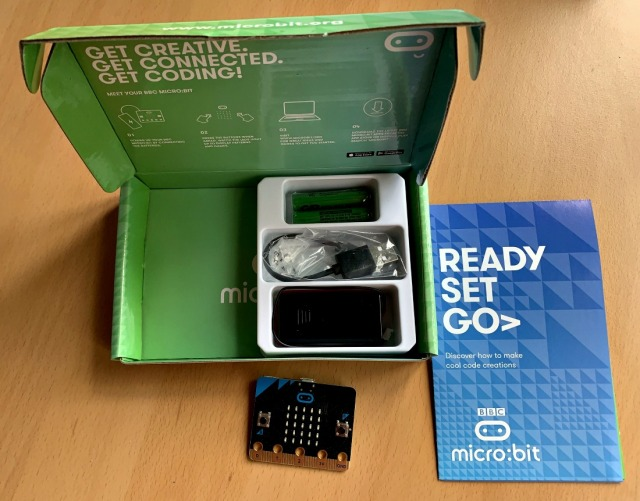 inside the BBC Micro bit starter kit