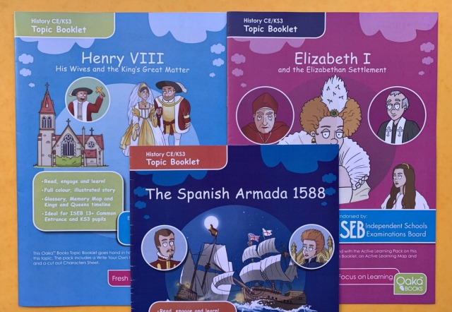 Tudor themed Topic packs from Oaka Books