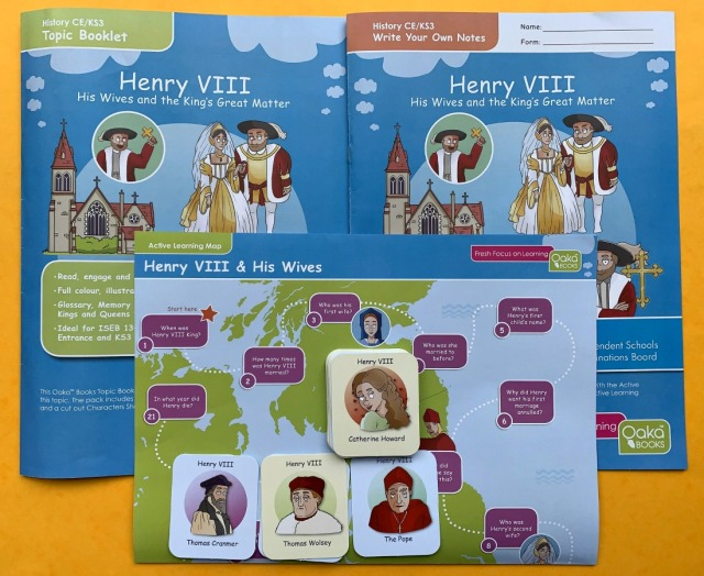 KS3 History resource Henry VIII Topic Pack from oaka Books. Tudor Resource