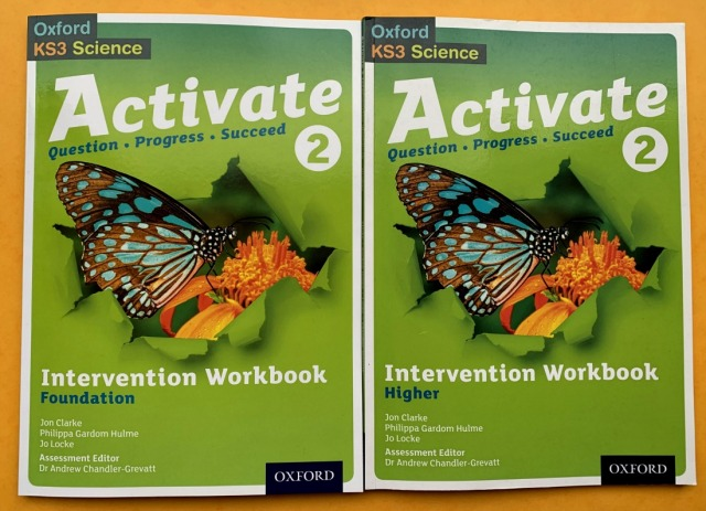 Activate 2 Workbooks. Foundation and Higher. Year 8 Science