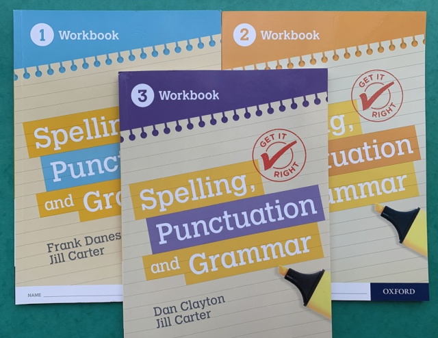Get It Right workbooks 1 - 3. Grammar, Punctuation and Spelling for KS3