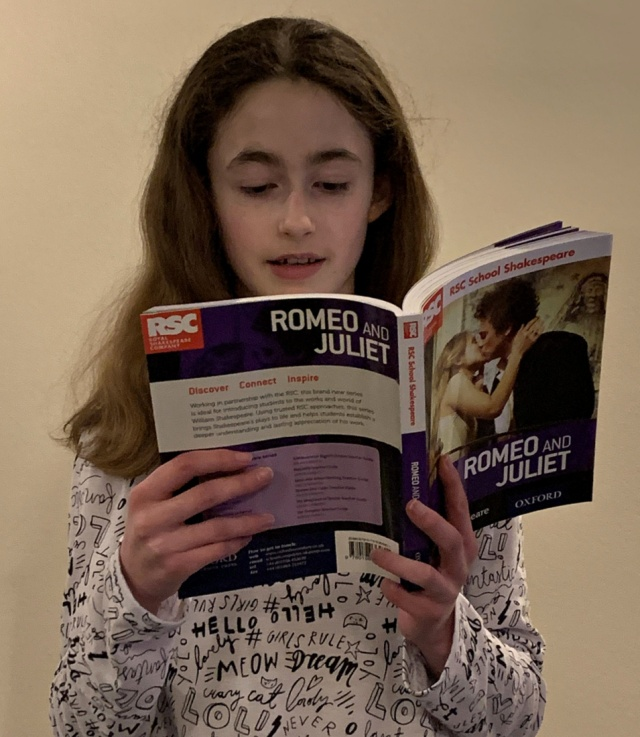 reading speaches from Romeo and Juliet