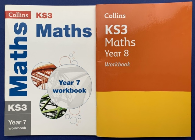 Collins Maths workbooks for Year 7 and Year 8