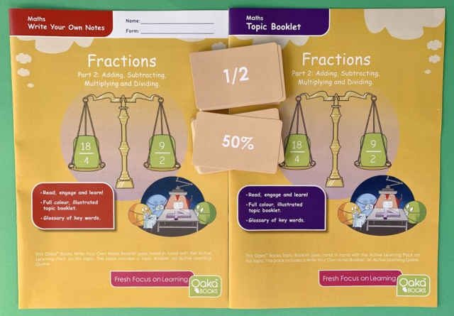 Oaka Books Fraction Topic Packs for KS2 Maths