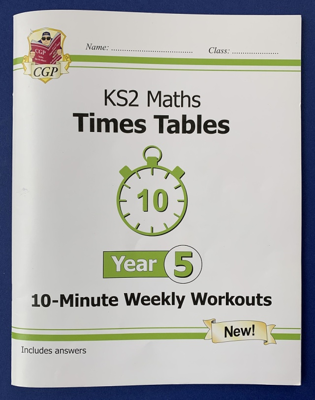 CGP KS2 Maths times table Year 5 workbook